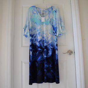 Calvin Klein Abstract Floral Sheath Dress